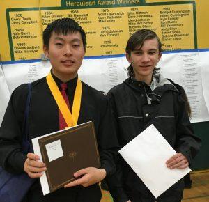 Winners - Jack Qin and Yuri Overton